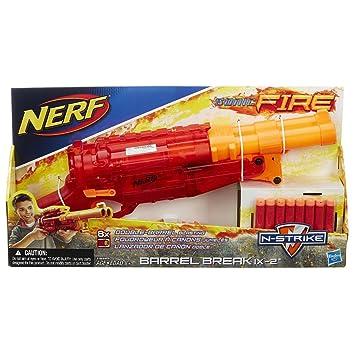 Nerf Hasbro N Strike Sonic Fire Barrel Break IX-2 - Red