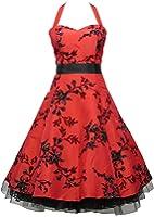 Dress190 - Vestido aterciopelado, diseño de flores