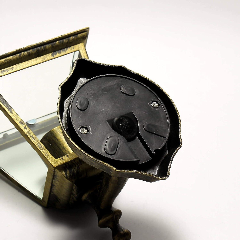 Rustikale Wandau/ßenleuchte Tirol in antik gold IP44 E27 bis 60W 230V Wandleuchte Au/ßenlampe wetterfest