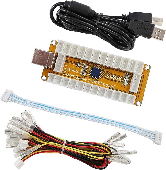 SJ@JX Arcade Game USB Encoder Zero Delay 2 Player Gamepad LED Button Joystick Controller for Nintendo Switch PC PS3 Retropie Raspberry Pi MAME: Amazon.es: Juguetes y juegos