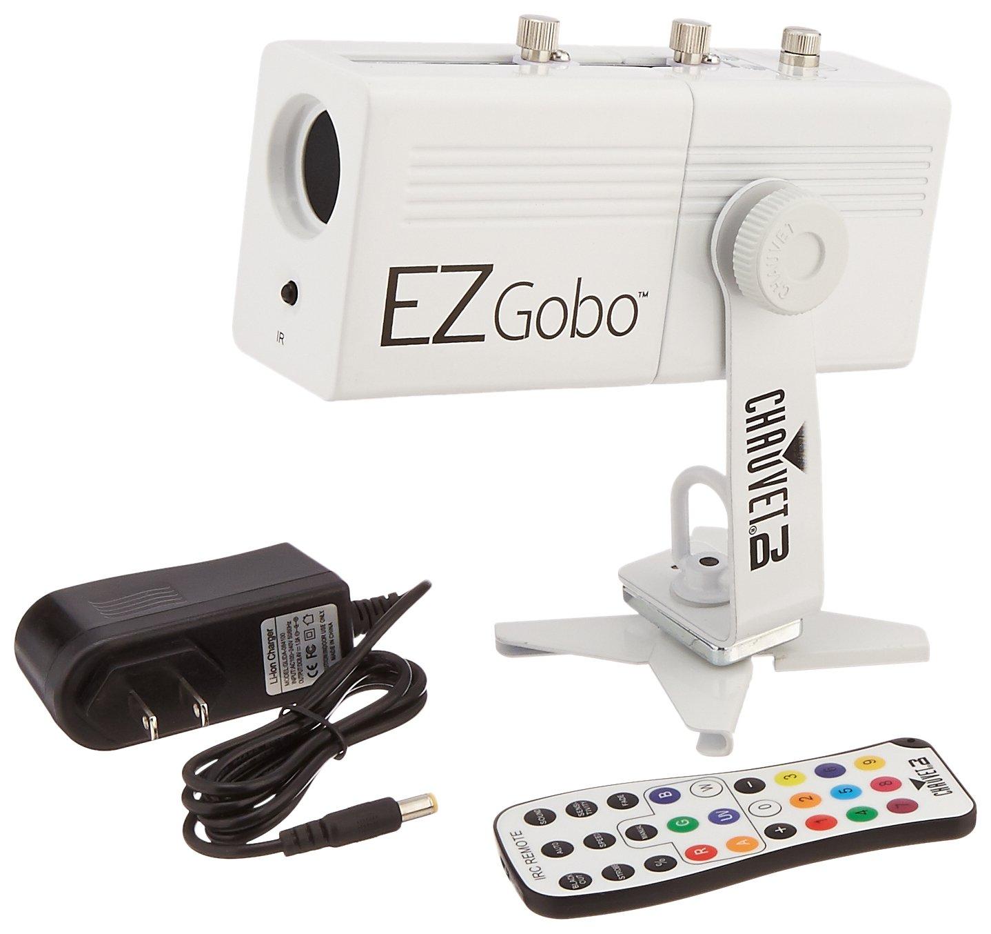 CHAUVET DJ EZGOBO Battery-Powered LED Gobo Projector w/Manual Zoom DJ Effect Light