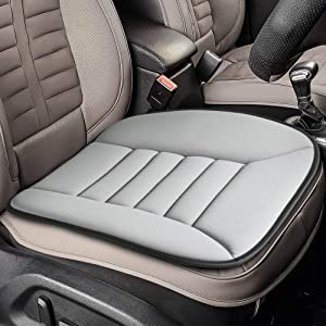 Tsumbay Car Seat Cushion Car Driver Seat Office Home Chair Pain Relief Memory Foam Seat Cushion Comfort Seat Protector with Non Slip Bottom(Gray)