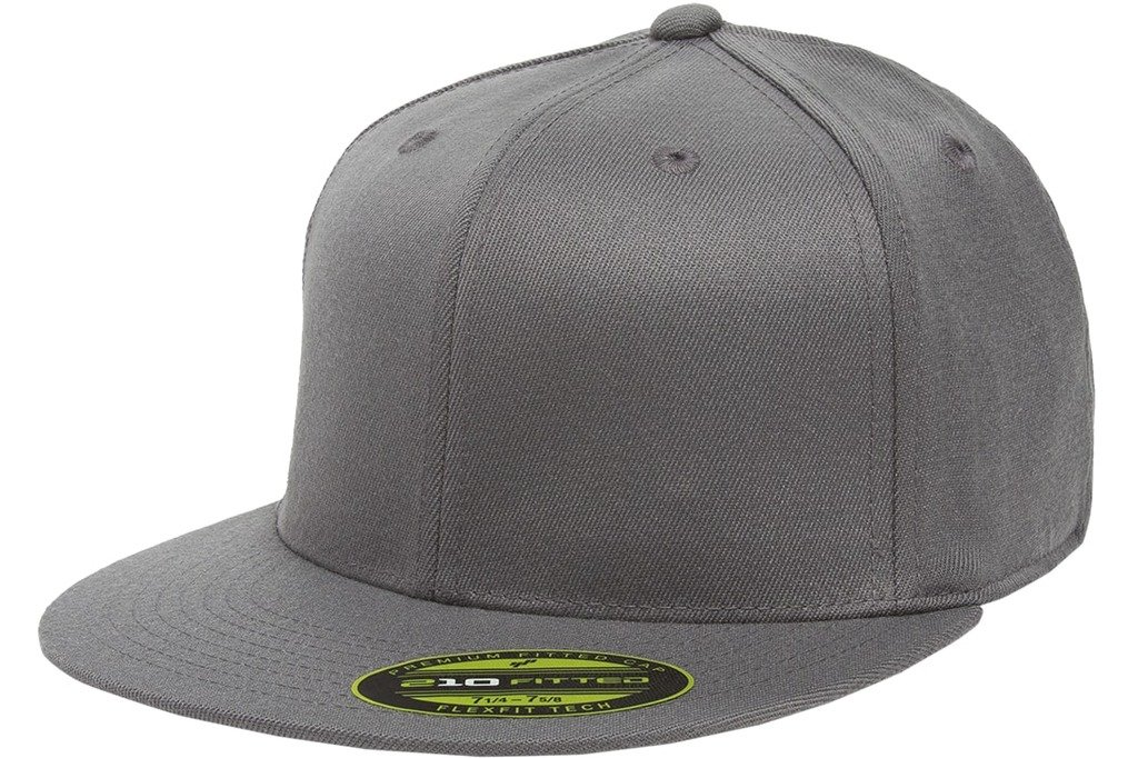 Flexfit Premium Flatbill Cap – Fitted 6210 - Large/X-Large (Dark Gray)