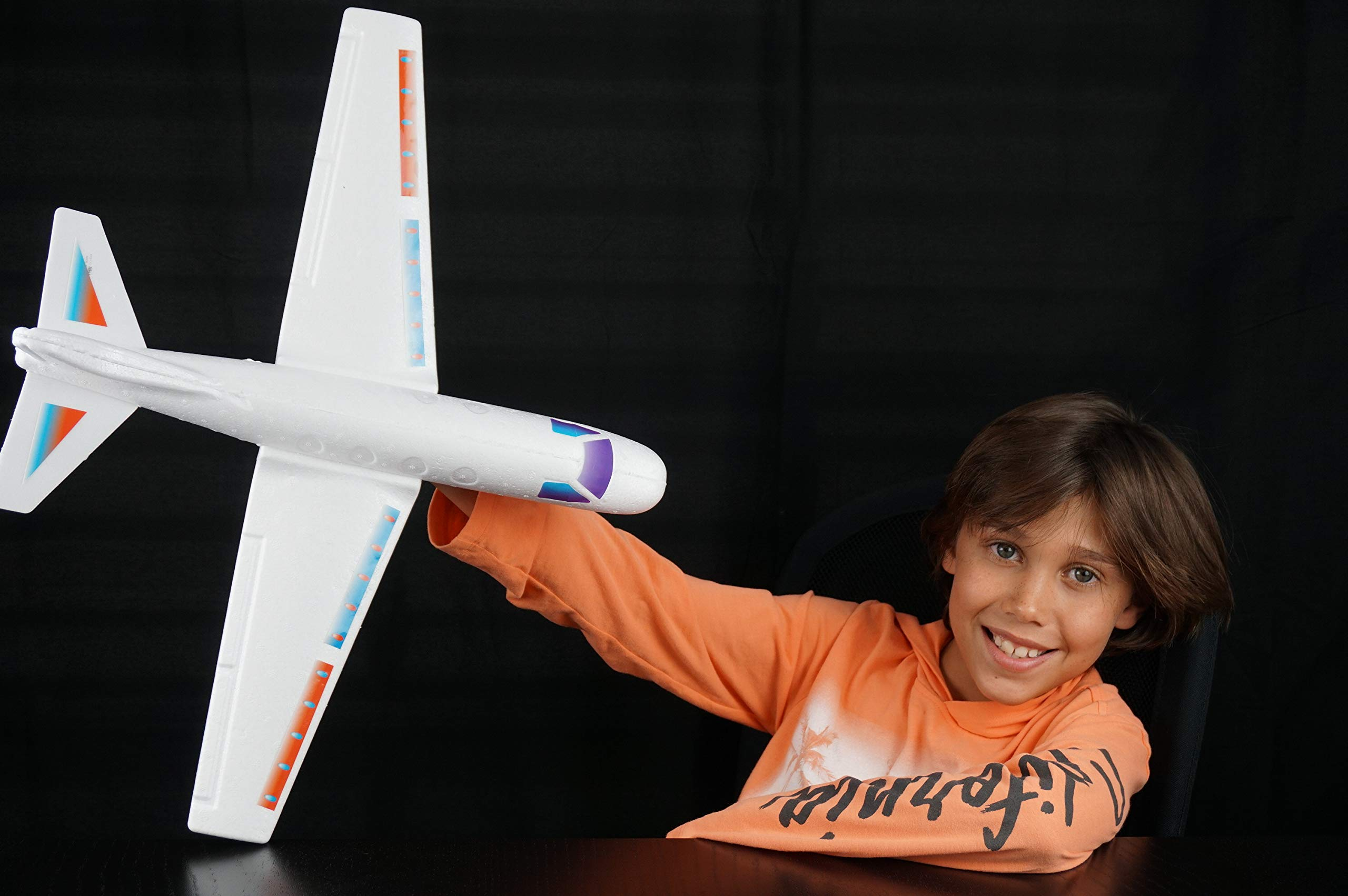2GoodShop Giant Airplane Glider Kids Fying Toy Build It, Throw It and Watch It Glide Hours of Outdoor Fun Pack of 6 | Item #1030 by 2GoodShop (Image #2)