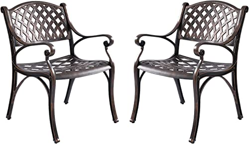 Kinger Home Patio Outdoor Dining Metal Chair