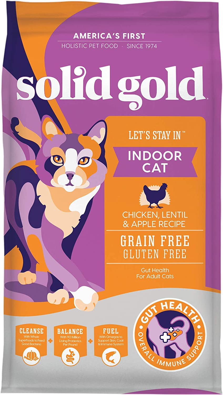 3. Solid Gold Let's Stay In Grain-Free Dry Food for Indoor Adult Cats