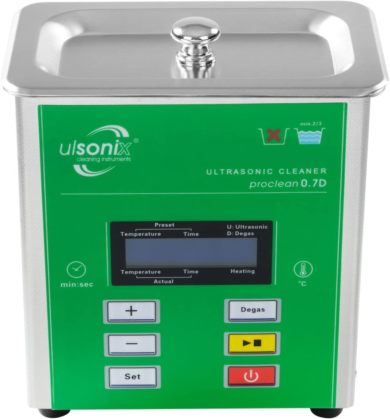 Ulsonix - Lavadora a ultrasonidos Proclean 0.7D - LCD Serie Degas ...
