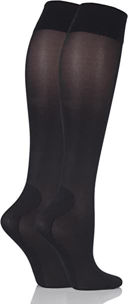 Ladies 2 Pair Iomi Footnurse Energising Compression Socks