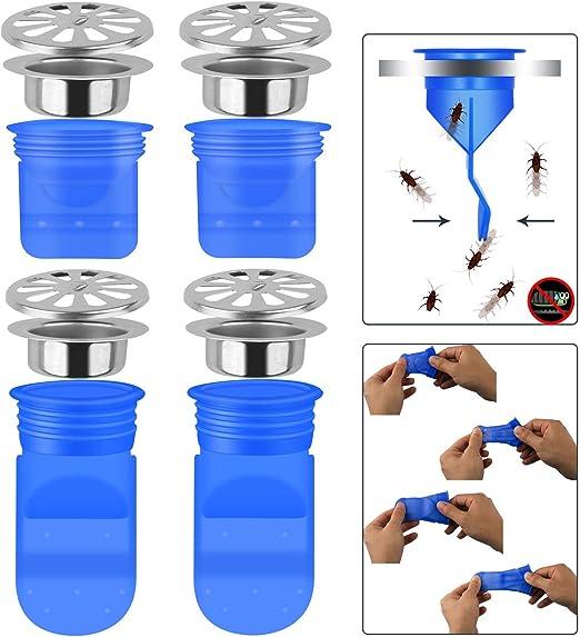 One Way Ventil f/ür Rohre R/öhren in WC-BAD Bodenablauf Dichtung Resist Geruch und Bugs 3/DRAIN R/ückflussverhinderer
