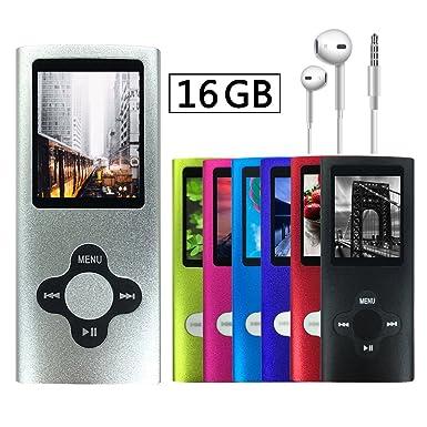 Volger Digital 16 GB portátil ultrafino reproductor de mp3 mp4 pantalla lcd reproductor de música reproductor ...