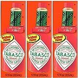 Tabasco Original Pepper Sauce, 12 FL OZ (Pack of 3)