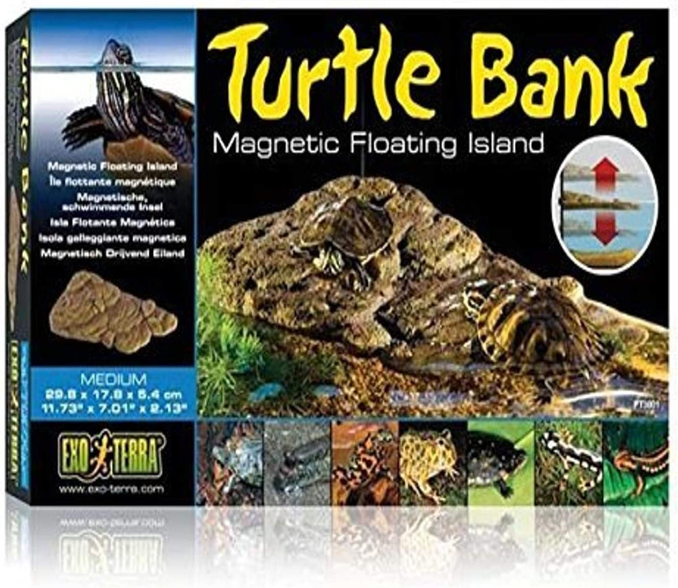 Exo Terra Turtle Bank, Magnetic Floating Island for Aquatic Turtle Terrariums
