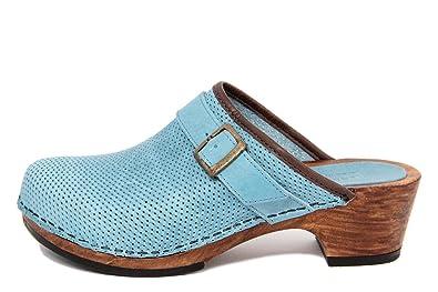 MARRADINI Damen - Sandale - Glattleder - 241_F_SW_Boston_Celeste
