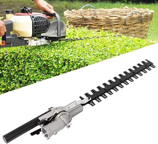 Recortadora de setos, 9 dientes Cortador de ángulo múltiple de 28 mm Arbustos de seto Ramitas Cepillo Recortador Accesorio de cabeza de cortador para jardín Césped Seto de corte de invernadero: Amazon.es: