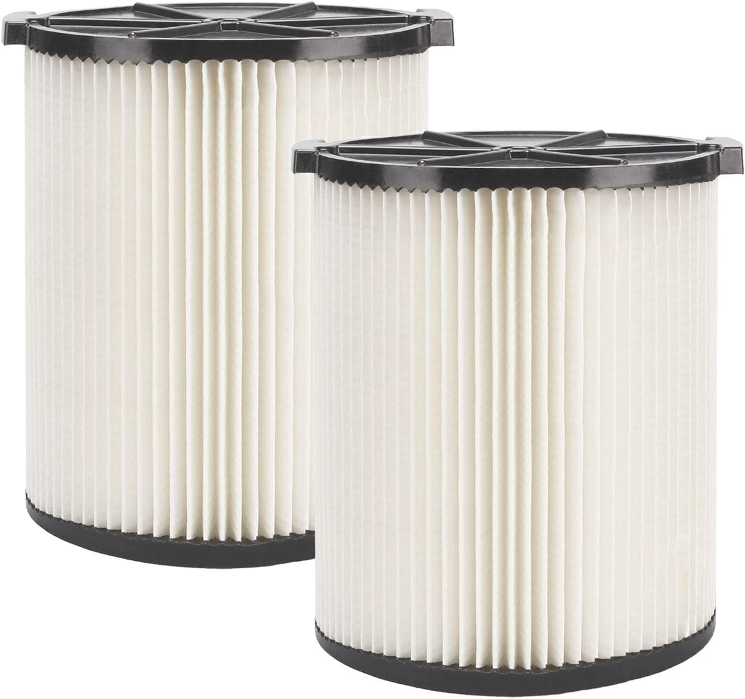 YUEFENG VF4000 Replacement Filter for Ridgid Wet Dry Vac 5 to 20-Gallon 6-9 Gal - Filter for Husky Vacuum WD5500 WD0671 RV2400A RV2600B (2 Pack)