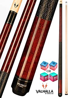 product image for Valhalla VA120 by Viking 2 Piece Pool Cue Stick Mahogany Stain Irish Linen Wrap 16-21 oz. Plus Blue Master Chalk