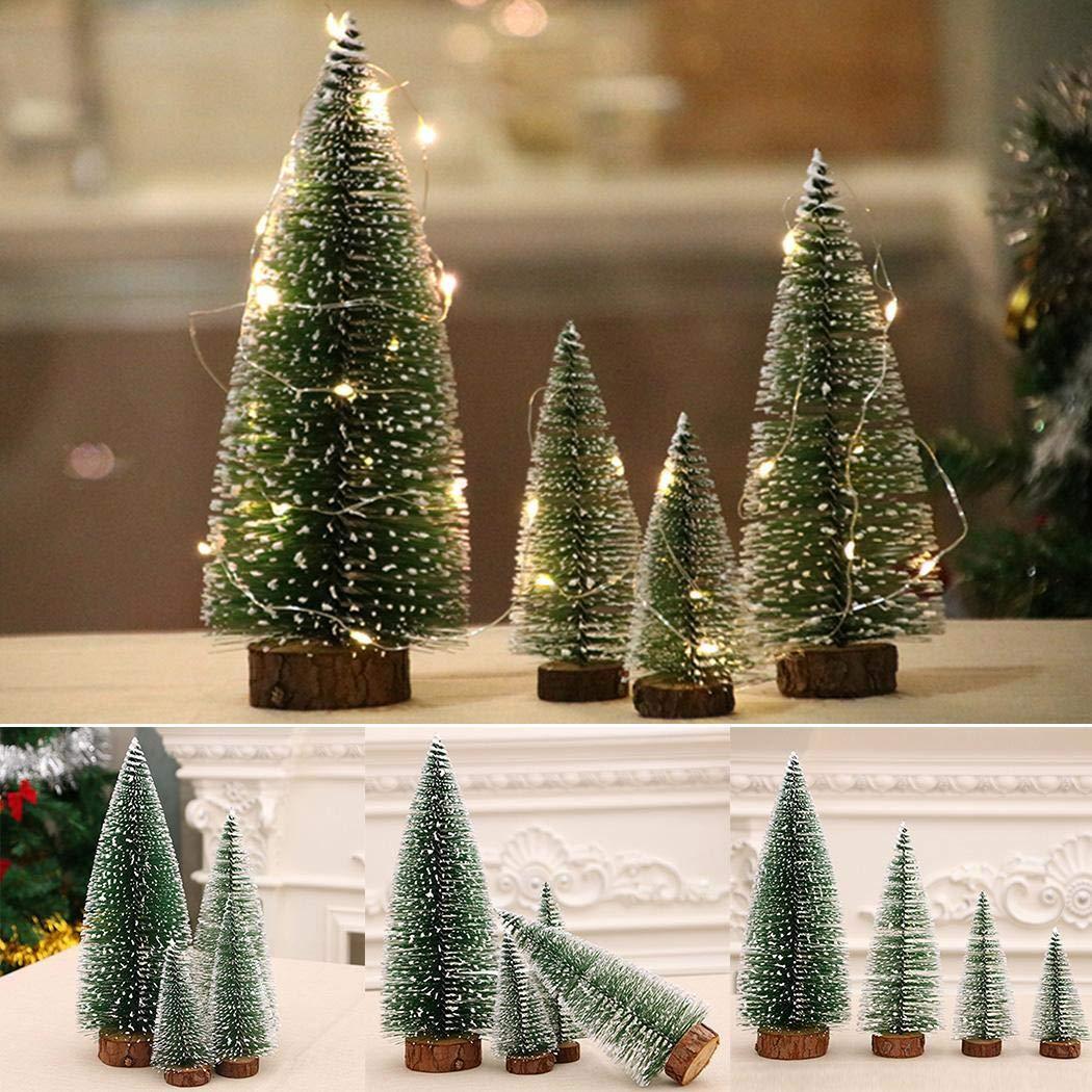 Eroihe Mini Cedar Tree Christmas Decoration Desktop Window