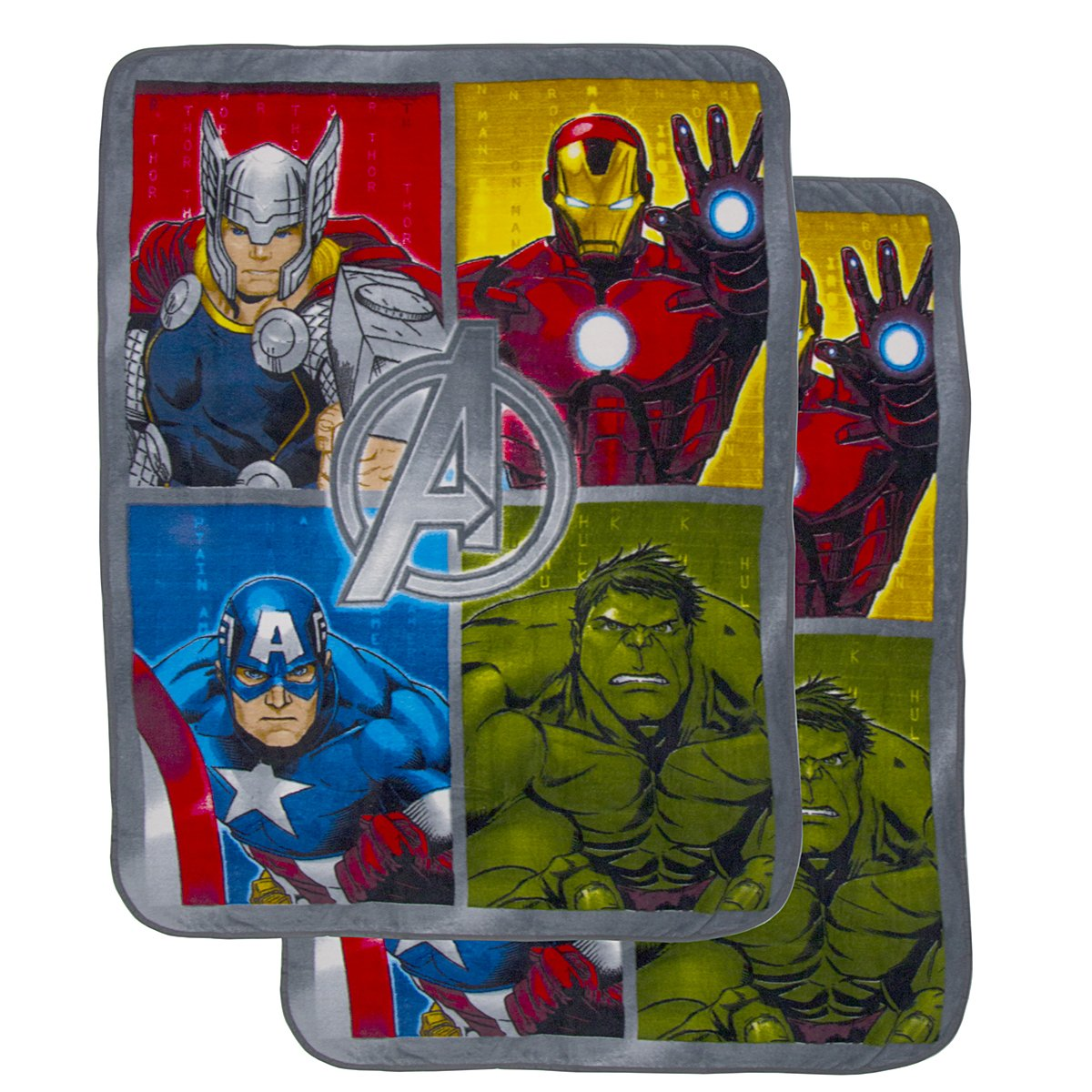 "2 Pack Cozy Inside Out Or The Avengers Soft Fleece 46x60"" Plush Throw Blankets For Kids Girl Boy"
