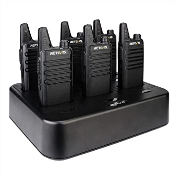 Retevis RT22 Walkie Talkie de Bolsillo Recargable ...