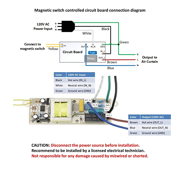 Miraculous Awoco Magnetic Switch Controlled Circuit Kit 120V 15A For Air Wiring Cloud Hisonuggs Outletorg