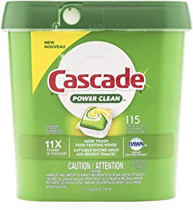 Cascade Power Clean Dishwasher Pods | 115 Dishwasher Detergent Pacs – New and Improved Formula – Fresh Scent