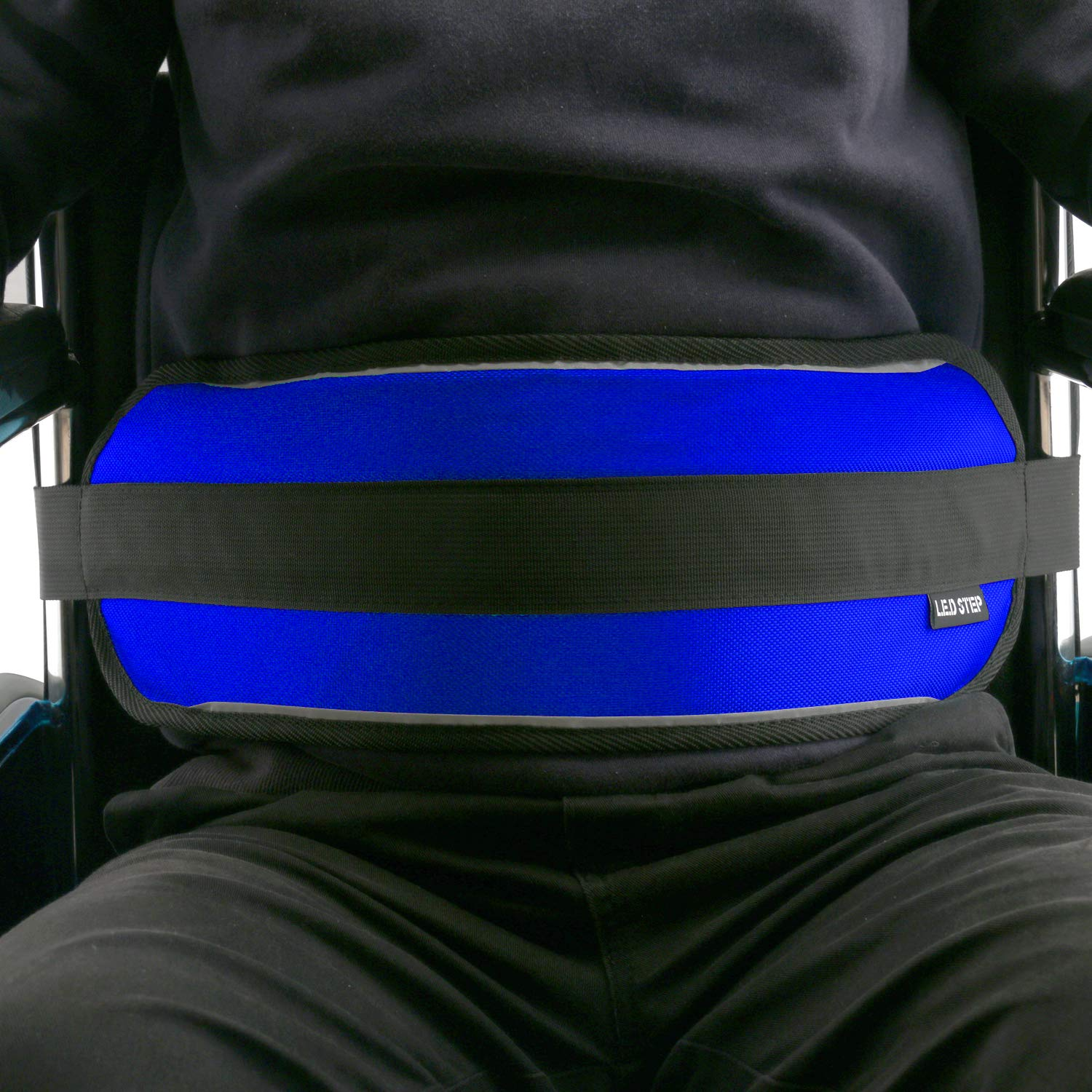Wheelchair Seat Belt Restraint Systems Chest Cross Medical Restraints Harness Chair Adjustable Strap Patients Cares Elderly Safety (Blue)