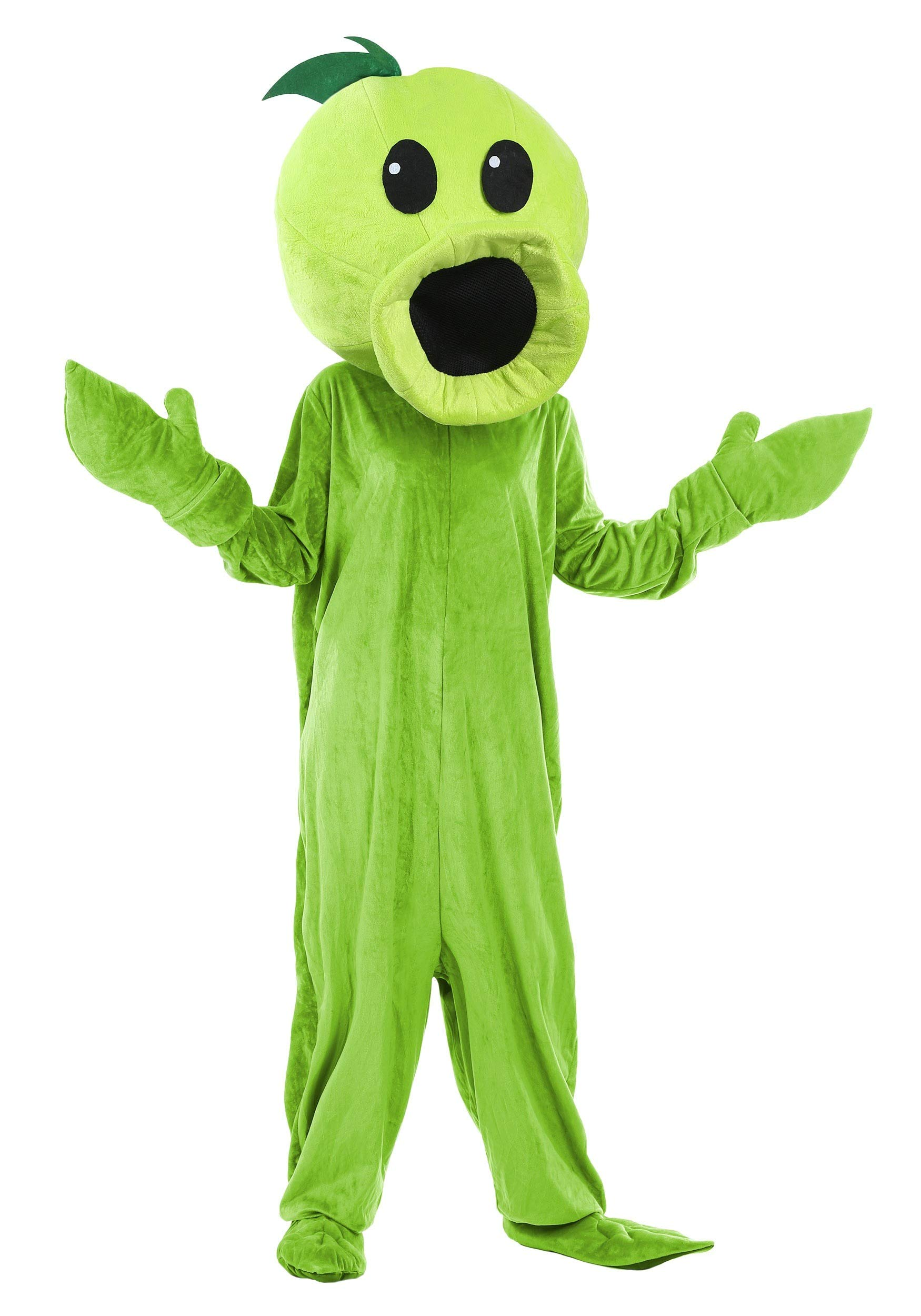 Plants Vs Zombies Peashooter Adult Exclusive Costume Standard Lime by Fun Costumes