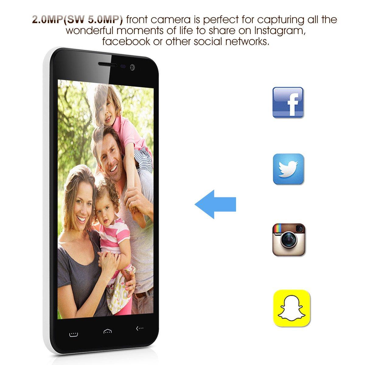 Homtom HT16 - 3G Smartphone Libre Android 6.0 (HD Pantalla 5.0