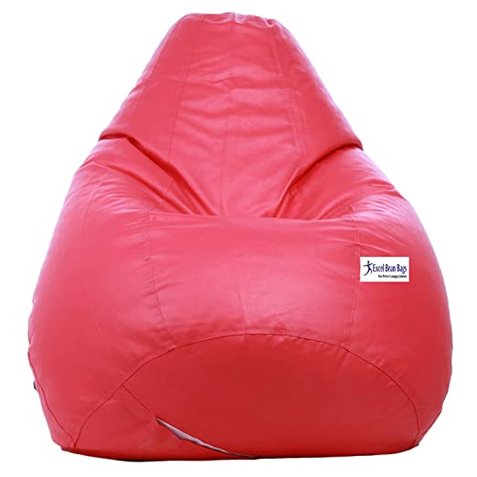 Sattva Classic Bean Bag filled with beans - XL Size - Pink Colour Filled Bean Bags at amazon