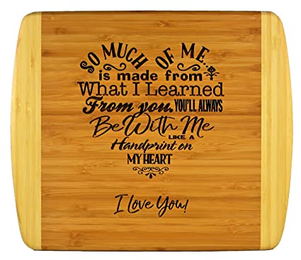 Mothers Gift Special Love Heart Poem Bamboo Cutting Board Design Mom Day