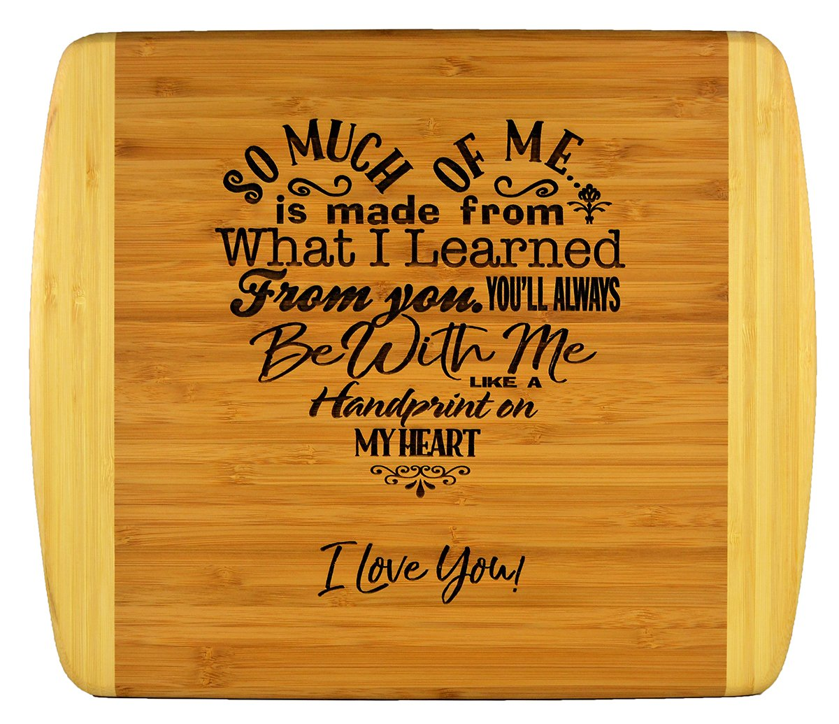 Mothers Gift – Special Love Heart Poem Bamboo Cutting Board Design Mom Gift Mothers Day Gift Mom Birthday Christmas Gift Engraved Side For Décor Hanging Reverse Side For Usage (11.5x13.5 Rectangle)