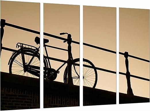 Poster Fotográfico Decoracion Atardecer Vintage, Bicicleta de ...