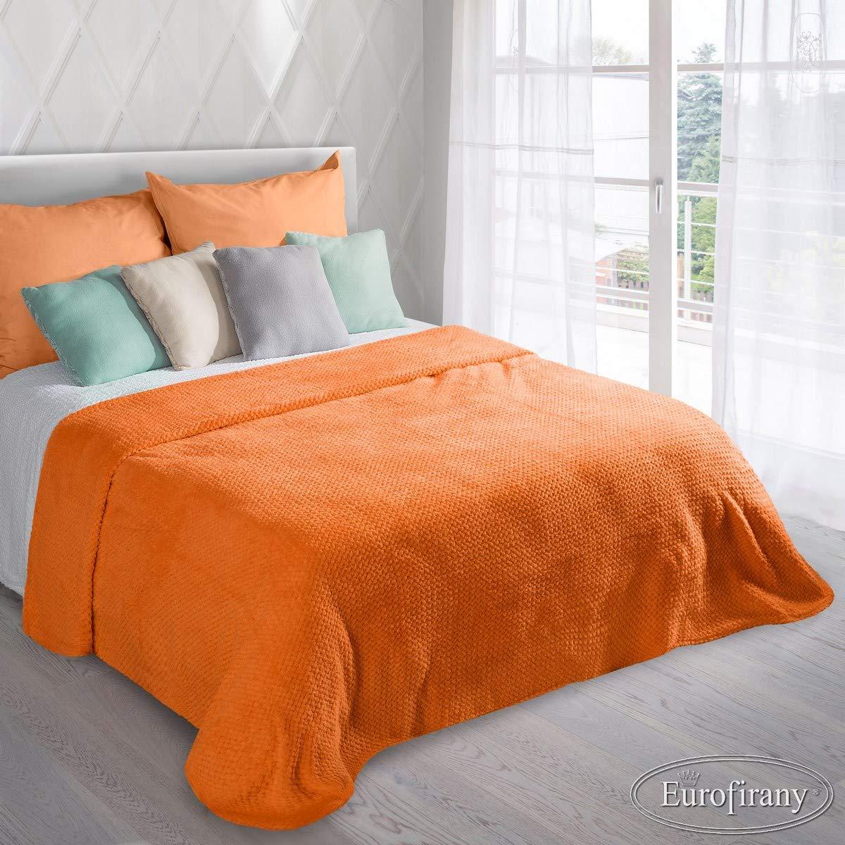 Couvre-lit Ricky Orange Orange 220/x 240/cm microfibre