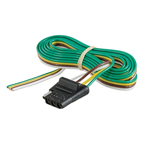 curt 58040 vehicle side 4 way trailer wiring harness with 60 inch wires, 4 pin trailer wiring Trailer Light Wiring Harness