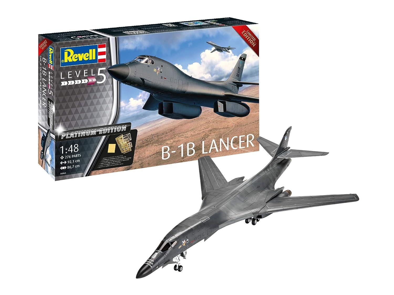Revell 04963 Platinum Edition B-1B Lancer originalgetreuer Modellbausatz für Experten, Mehrfarbig, 1 48