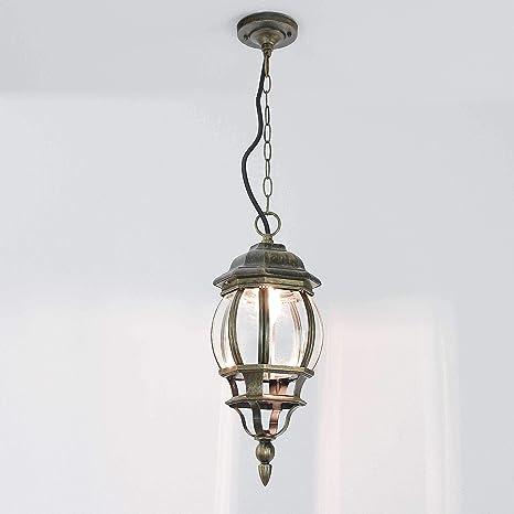Forma Bella - Lámpara de techo antiguo dorado Farol aluminio ...