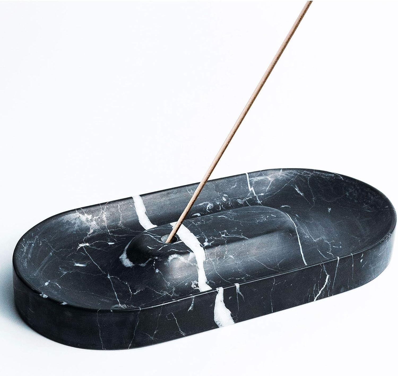 A.C.T. Essential Black Marble Incense Holder | Incense Burners | Incense Stick Burner | Incense & Incense Holders | Incense Burner Holder