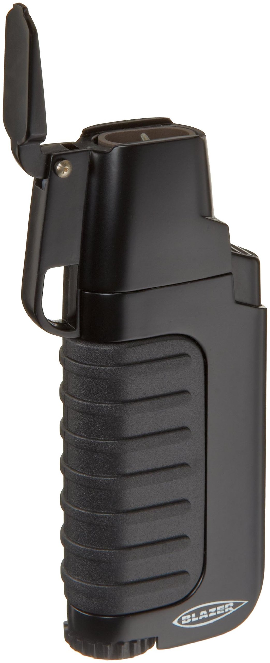 Blazer Venture Butane Refillable  Torch Lighter, Black