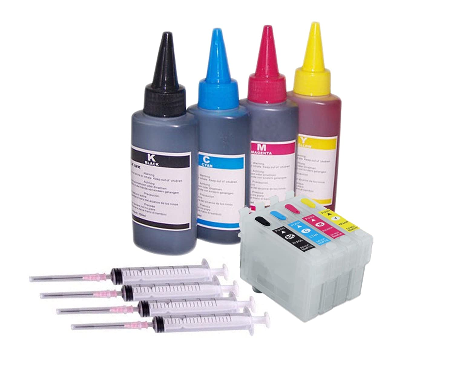 ***FREE POST**** 1 Full refill kit set of High Empty Refillable Quality Non Oem Ink Cartridges Auto reset level for Epson Expression Home XP-245 XP-247 XP-342 XP-442 XP-235, XP-332, XP-335, XP345, XP-432, XP-435 Printers to replace 29xl Strawberry Seris I
