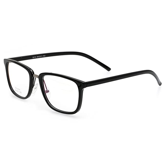 3438ca47bf0 Simvey Strong Square Nerd Glasses Frames Clear Lens Prescription Eyeglasses  TR90  Amazon.ca  Clothing   Accessories