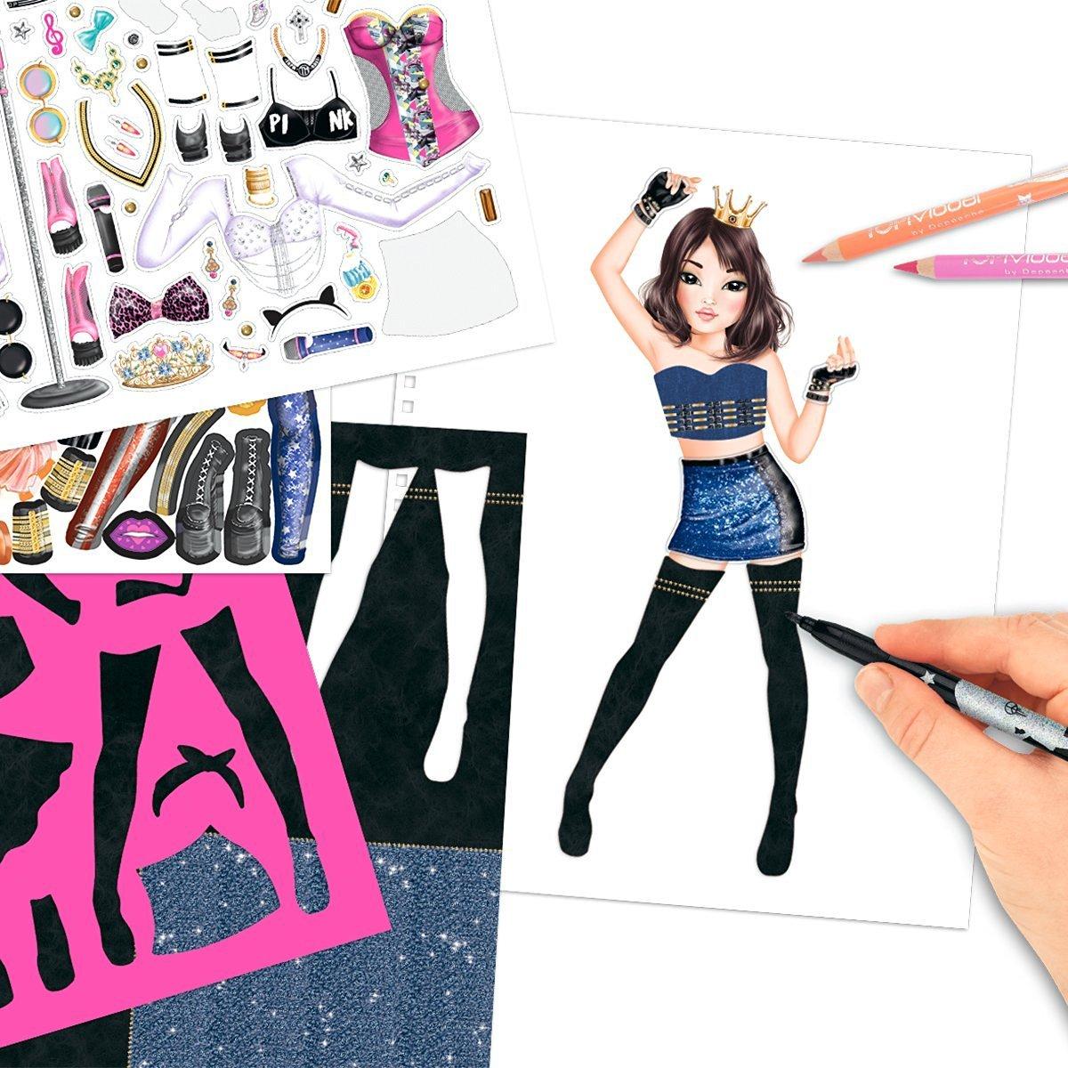 8493_A - Topmodel Agenda Popstar para Colorear: Amazon.es ...