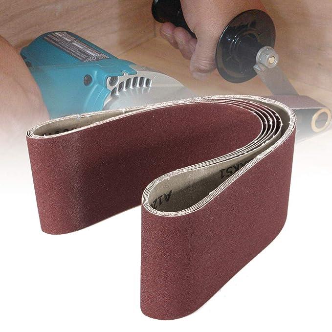 "4/""x36/""Sanding Belts 80 Grit Aluminium Oxide For Sander Replacement Accessories"