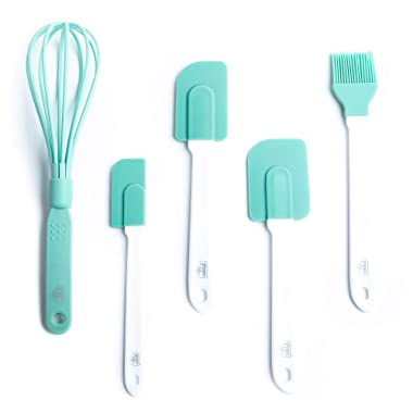 GreenLife CC001728-001 Baking Set, 5-Piece, Turquoise, 5pc, Turqouise