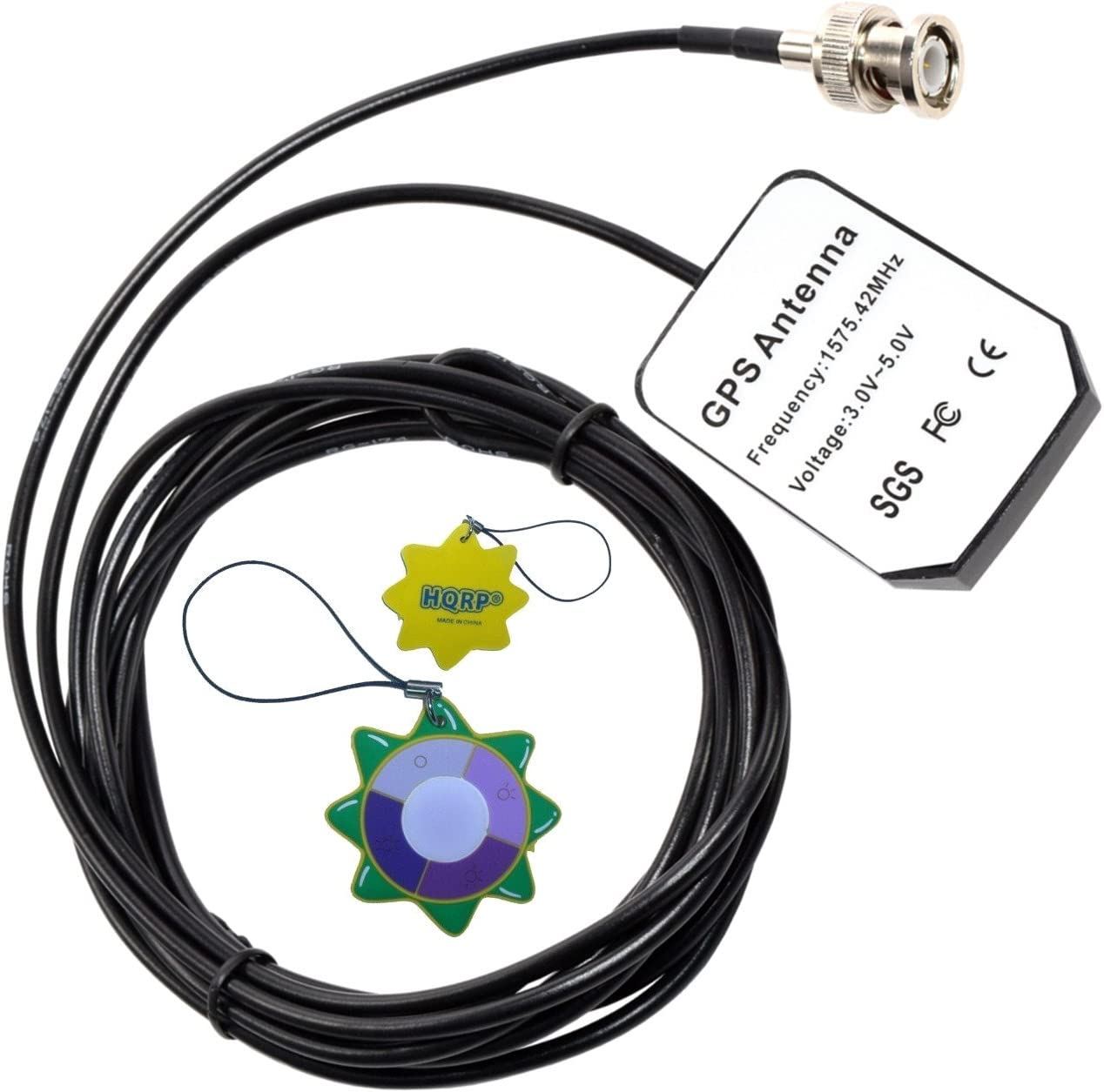 HQRP antena externa GPS para Garmin GPSMAP 545S / 546 / 546s / 550S / 555S / 720 / 720s / StreetPilot III GPS + HQRP medidor del sol