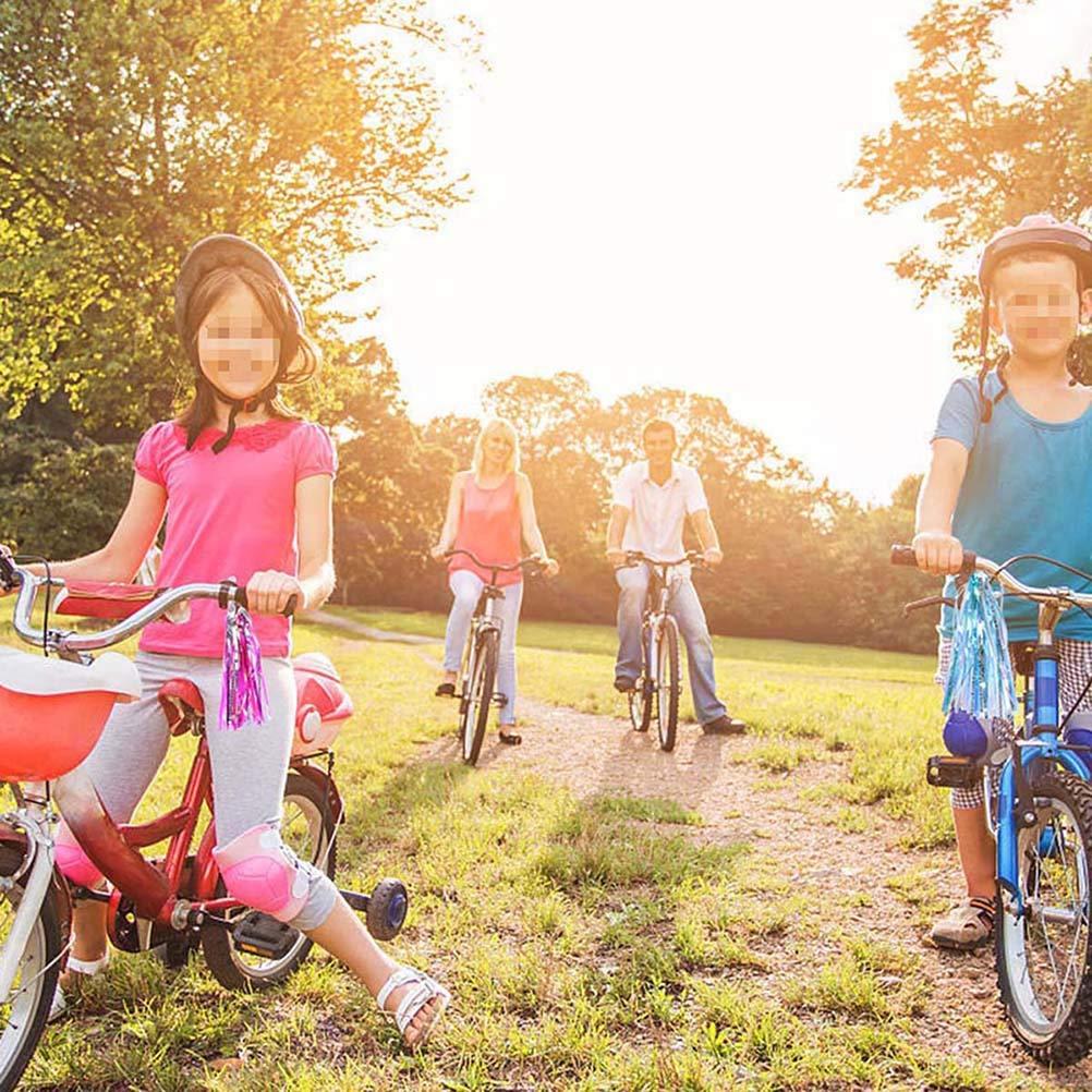 BESPORTBLE 2Pairs Ni/ños Bicicleta Borla Cinta Bicicleta Manillar Streamers Grips para ni/ños ni/ñas ni/ños Azul