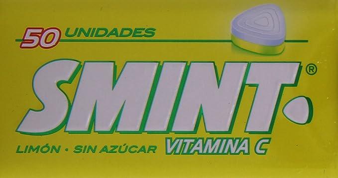 Smint - Caramelos comprimidos con Vitamina C sin azúcar - Sabor a limón - 50 unidades