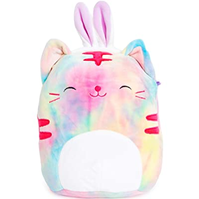 Squishmallows Easter 2020 Plush with Bunny Ears 9 inch (Rainbow Cat): Toys & Games