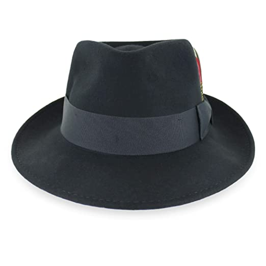 032b41827a4 Belfry Gangster 100% Wool Stain-Resistant Crushable Fedora in 5 Sizes and 4  Colors