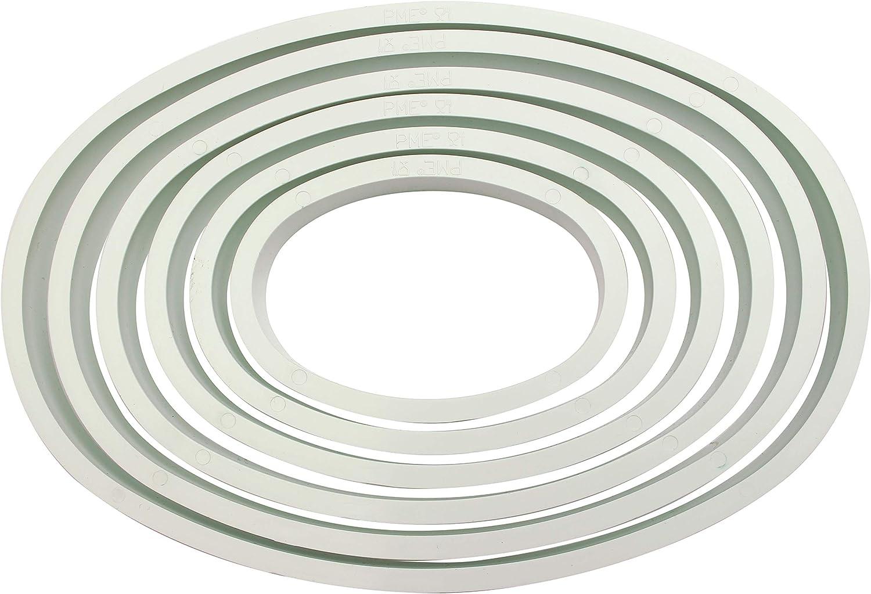 6 unit/à Bianco PME PNH2 Tagliapasta e Tagliabiscotti a Forma di Cuore