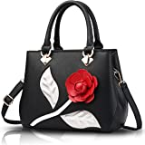 Sunas 2017 new women handbag rose embossed Oblique package shoulder purse handbag